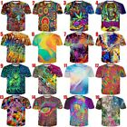 Kyпить Psychedelic Color 3D Print Men Women Casual T-Shirt Short Sleeve Tees Many Style на еВаy.соm