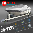14-16/17-19/20-22ft PEVA Waterproof Trailerable Boat Cover V-hull Fishing Ski  image