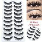 10 Pairs Mink Hair False Eyelashes Natural Long Wispy Eye Lashes Crisscross
