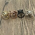 Ring Adjustable Lazy Sleeping Cat Fashion Retro Vintage Style Unisex Charm image