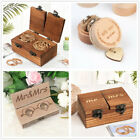Внешний вид - Vintage Wooden Wedding Ring Bearer Box Engagement Ring Holder Jewelry Ring Box