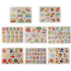 JN Alphabet Numbers Wooden Peg Puzzles Baby Toddler Preschool Educational To