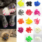 20Pcs Soft Silicone Pet Dog Cat Kitten Paw Claw Control Sheath Nail Caps Covers