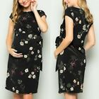 Women Summer Maternity Short Sleeve Party Floral Bodycon Dress Pregnancy Clothes