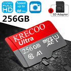 64GB 256GB Micro SD HC Class 10 TF Flash SDHC Memory Card with Adapter UHS-I