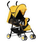 Foldable Baby Stroller Kid Safety Travel Infant Pushchair Lightweight High Visio