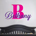 Girls Name Wall Decal Bedroom Decor Baby Nursery Removable Vinyl Sticker