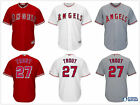 Men's Los Angeles Angels of Anaheim #27 Mike Trout Cool Base Jersey White/Red