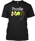 Poodle Mom Dog T-Shirts 100% Cotton Size M-3XL US Men's Clothing Trend 2019