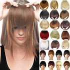 Front Neat Side Hair Clip In Bangs Fringes Hair Extension Black Blonde Brown U7