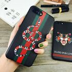 1Gucci1 Luxury Snake Tiger phone case Relief Soft phone case cover 6 to Xs MAX