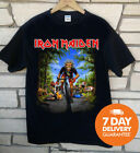 Iron Maiden Tour De France 2018 T-Shirt Rare Black Gildan Large S-3XL image