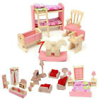 Kyпить Dolls House Furniture Wooden Set People Dolls Toys For Kids Children Gift New TH на еВаy.соm
