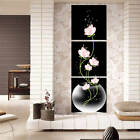 3pc Art Modern Flower Canvas Painting Picture Print Wall Hanging Home Room