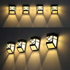 5x Solar Powered Wall Mount LED Light Outdoor Garden Path Yard Lamp White / Warm