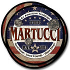 Martucci Family Name Drink Coasters - 4pcs - Wine Beer Coffee & Bar Designs