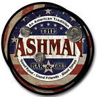 Ashman Family Name Drink Coasters - 4pcs - Wine Beer Coffee & Bar Designs