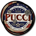 Pucci Family Name Drink Coasters - 4pcs - Wine Beer Coffee & Bar Designs