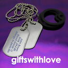 Military Style Army Dog Tags - FREE ENGRAVING - your colour choice silencer