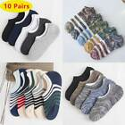 10 Pairs Mens Invisible No Show Nonslip Loafer Boat Breathe Low Cut Cotton Socks