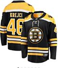 David Krejci 46 Boston Bruins Black  Yellow Hockey Jersey