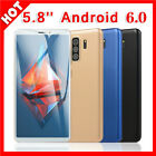 5.8'' Android 6.0 Unlocked Mobile Phones Quad Core Dual Sim Smartphone 512ram+4g