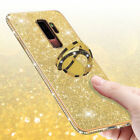 For Samsung Galaxy S9 S8 S10+ A8 A6 A7 Bling Diamond Ring Holder Soft Cover Case