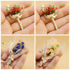 CUTE ARTIFICIAL TULIP ROSE FLOWER BOUQUET CLAY MODEL 1/12 DOLL HOUSE ORNAMENT F