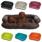Deluxe Soft Washable Dog Pet Warm Basket Bed Cushion with Leather Lining [ELLA]