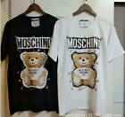 Multi-color NEW MEN'S WOMEN Moschino Teddy bear Top Tee SHORT SLEEVE T-SHIRT