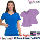 Heartsoul Scrubs Women's Medical Two Patch Pockets Contemporary V-Neck Top HS670