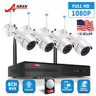 ANRAN Home Camera System Security Wireless 1080P 8CH Outdoor With 1TB Hard Drive