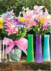 "9"" Cylinder Bud Vase Tapered - Fun Colors - BOGO 50% OFF. FREE SHIPPING"