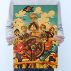 Animated One Piece Poster Series Painting Vintage Poster Bar Cafe Decoration