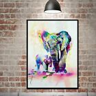 Elephant Canvas Modern Wall Art Oil Painting Picture Print Unframed Home Decor