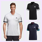Adidas Golf Mens 3-Stripes Club  Solid Stretch Polo Shirt Top 48% OFF RRP