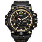 SMAEL Herren Sportuhren Military Shock Analog Quarz Digital Wasserdichte Uhr Neu