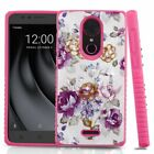 For Coolpad Revvl Plus (T-Mobile) Hard Hybrid Dual Layer Rubber Case