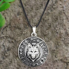 Vintage Mens Wolf  Animal Head Pendant Necklace Viking Amulet Gifts Jewelry
