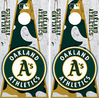 Oakland Athletics Cornhole Wrap MLB Decal Vinyl Gameboard Skin Set YD360 on Ebay