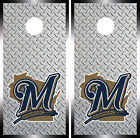 Milwaukee Brewers Cornhole Wrap MLB Decal Vinyl  Gameboard Skin Set YD344 on Ebay