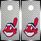 Cleveland Indians Cornhole Wrap MLB Decal Vinyl Gameboard Skin Set YD368 on Ebay