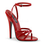 "6"" Red Stiletto Strappy High Heels Mens Crossdresser Drag Shoes size 12 13 14 15"