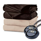 Holmes by Sunbeam Velvet Plush Electric Heated Blanket Twin Full Queen King image