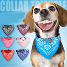 Dog Bandana Collar Triangle Scarf Adjustable Leather Pet Cat Doggie Neckerchief