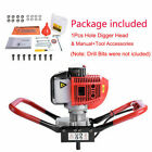 Upgrade 52cc 2.3HP Gas Powered Earth Auger One Man Post Hole Digger US 1 Pcs
