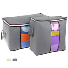 2 Pcs Foldable Storage Bag Clothes Blanket Quilt Closet Sweater Organizer Box