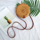 Women Hand-woven Rattan Bag Lady Straw Purse Wicker Crossbody Beach Bag Us
