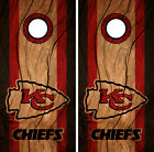 Kansas City Chiefs Cornhole Wrap NFL Decal Wood Vinyl Gameboard Skin Set YD324 on eBay