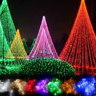Outdoor Led String Fairy Lights Net Mesh Curtain Wedding Party Home Lamp Decor